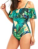 ARKRIR Women's Shoulder Belt Personalized Print Sexy Beach Or Party One-Piece Swimsuits