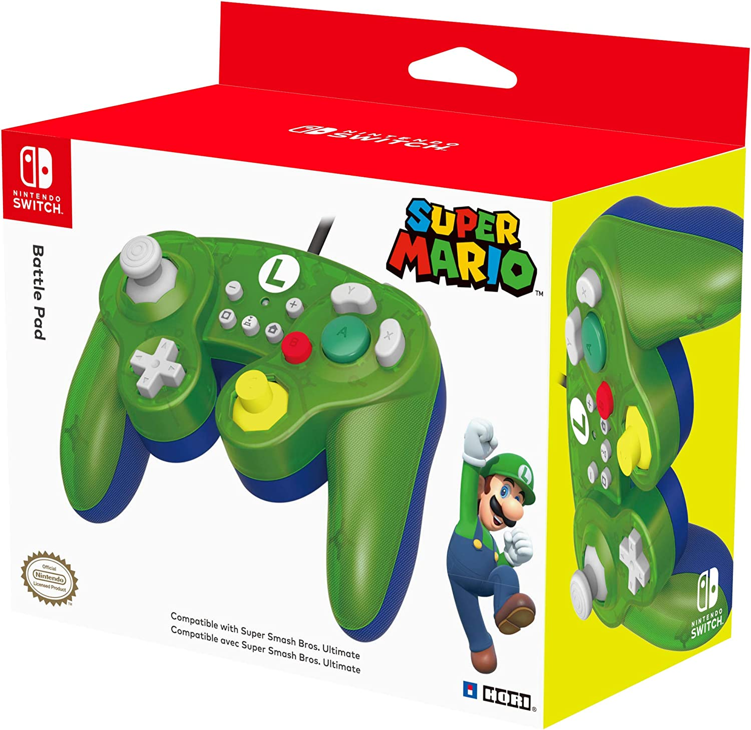 HORI - Battle Pad Luigi (Nintendo Switch): Amazon.es: Videojuegos