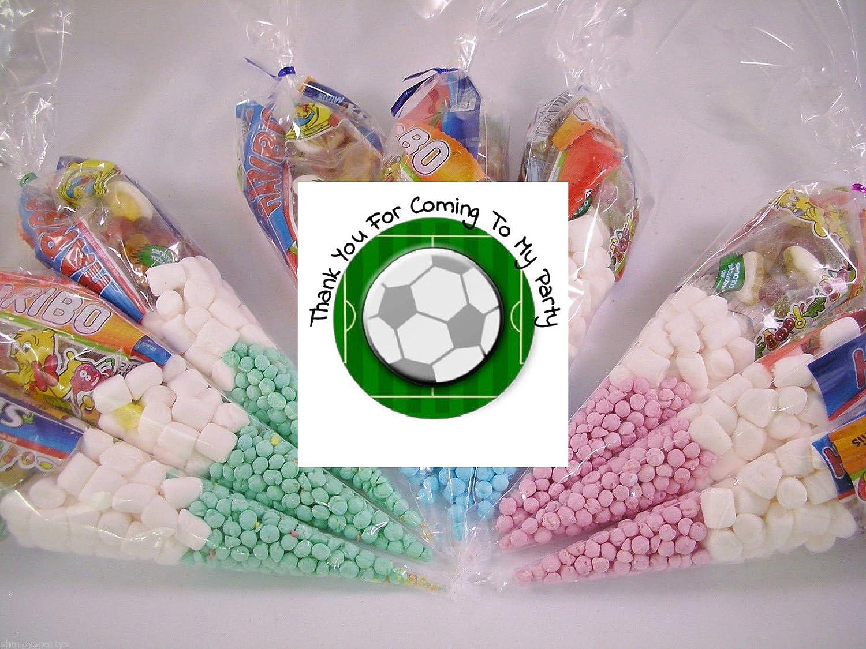 20 bolsas de fiesta para niños con diseño de balón de fútbol ...