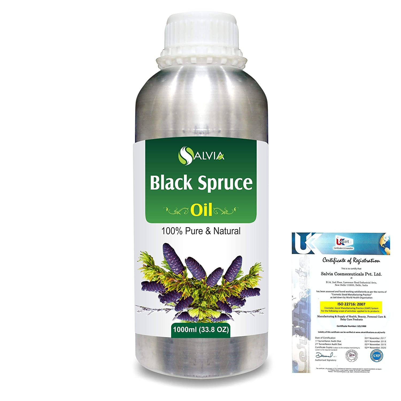 Black Spruce (Picea Mariana) 100% Natural Pure Essential Oil 1000ml/33.8fl.oz. B07R2B57RM