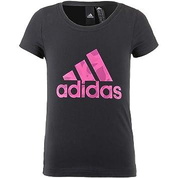 adidas niña Logo – Camiseta sin Mangas, Niñas, DJ1324, Black/Real Magenta
