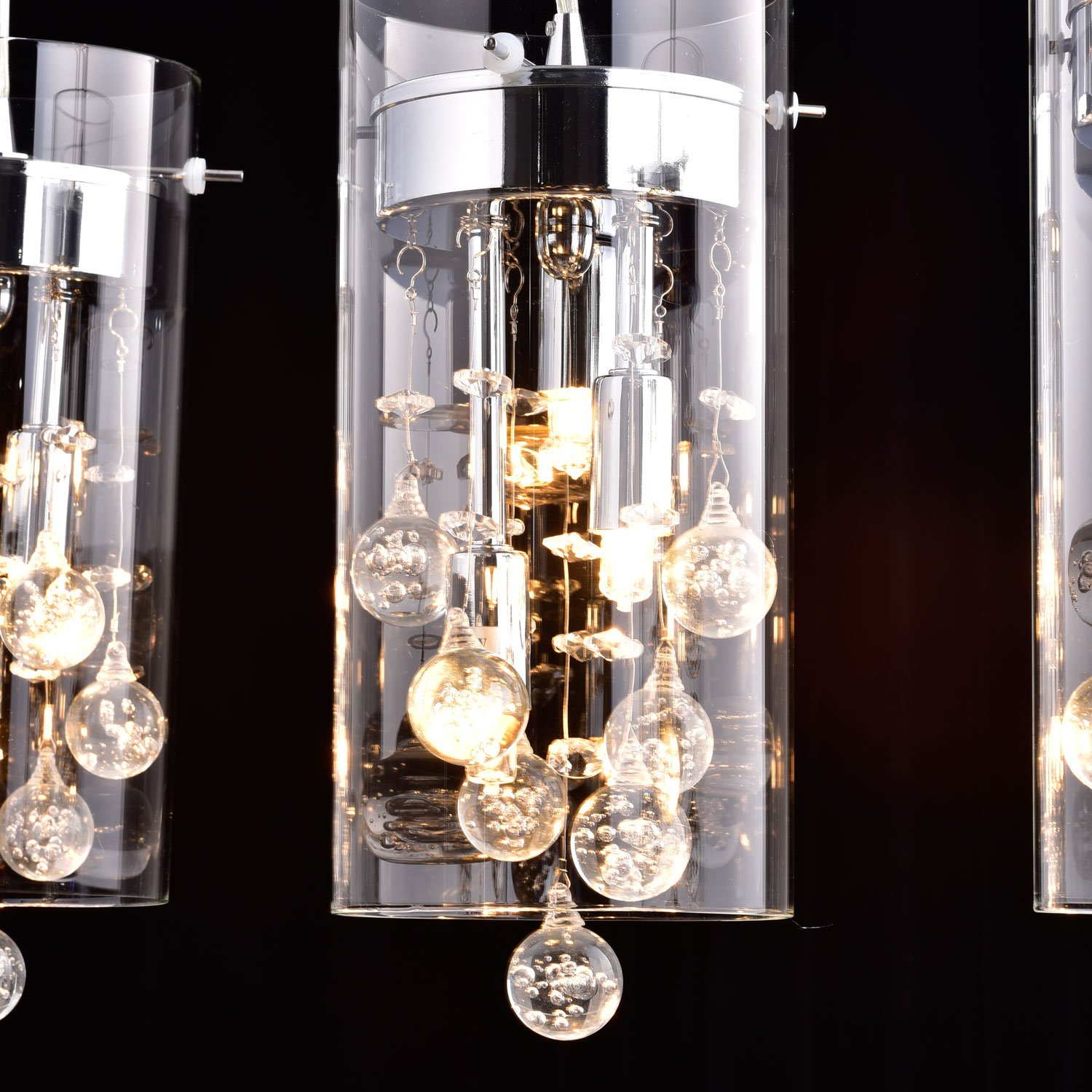 Chandelier Lighting Glass: CLAXY Ecopower Lighting Glass Crystal Pendant Lighting