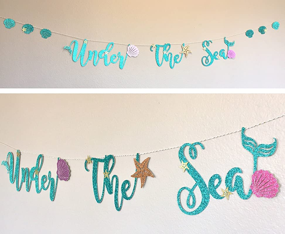 ARIEL/'s MERMAID COVE Balloon 16 letter balloons mermaid name banner birthday party banner kid/'s Bachelorete Beach Bach Letter Baloons
