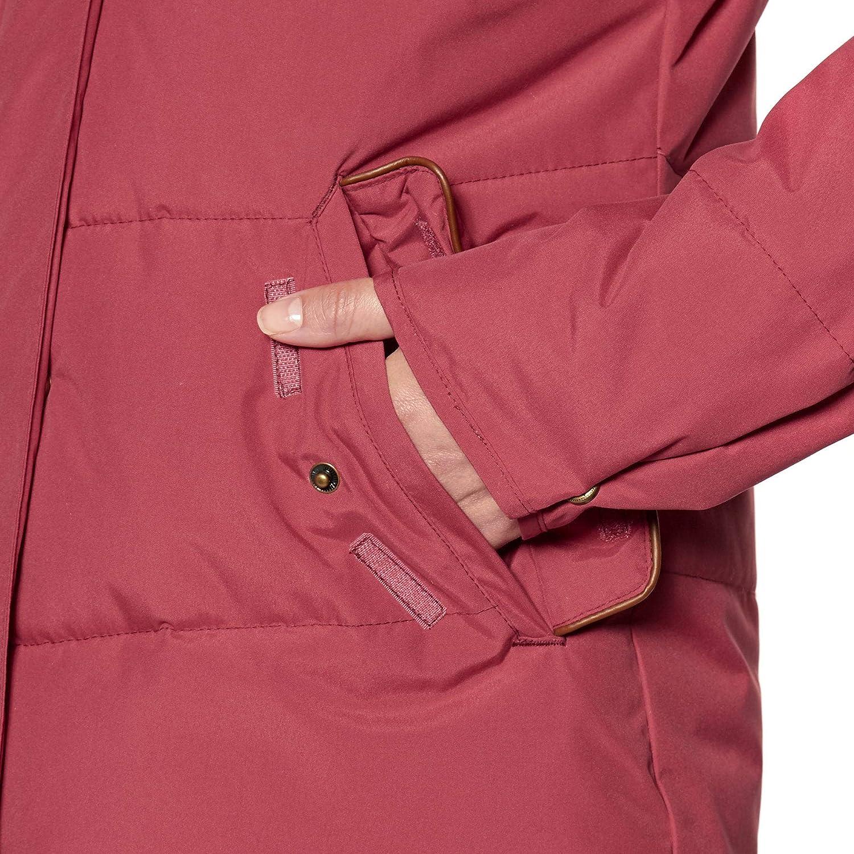 Roxy Ellie-Chaqueta Acolchada Impermeable de Corte Largo con Capucha para Mujer