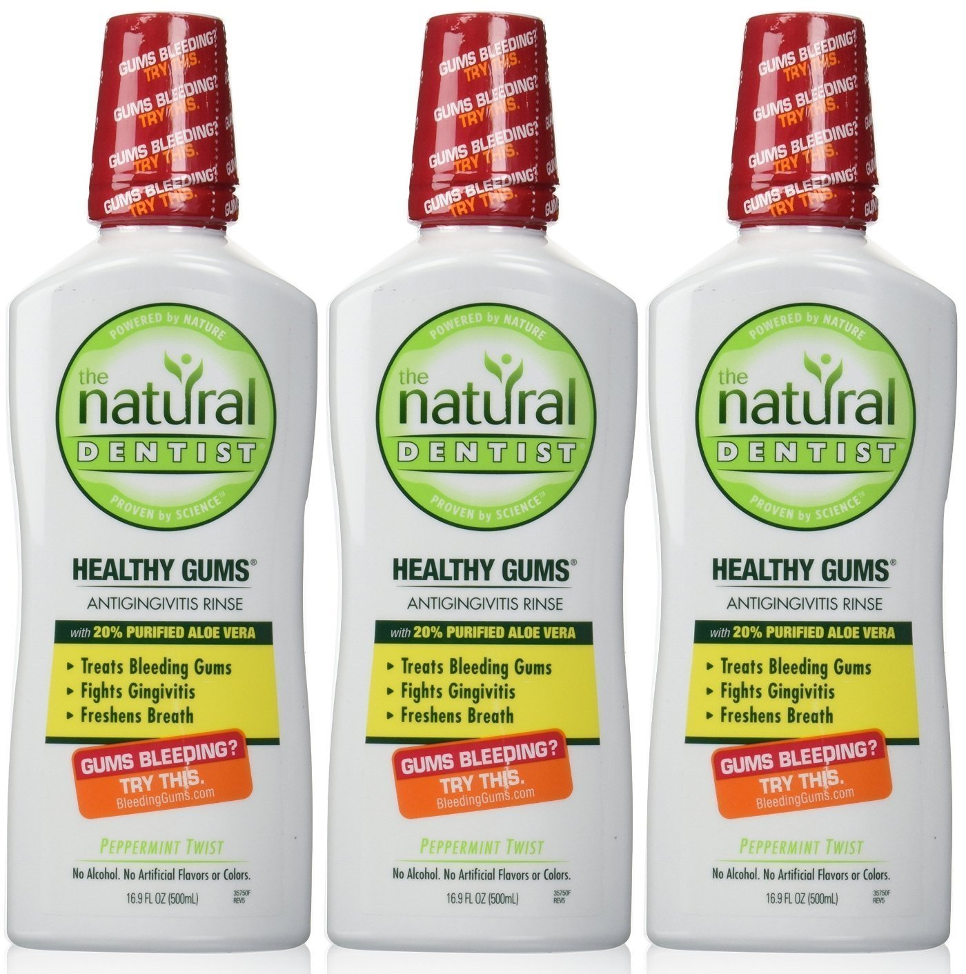 The Natural Dentist Healthy Gums Antigingivitis Rinse, Peppermint Twist, 16.9 Ounce (Pack of 3) by Natural Dentist