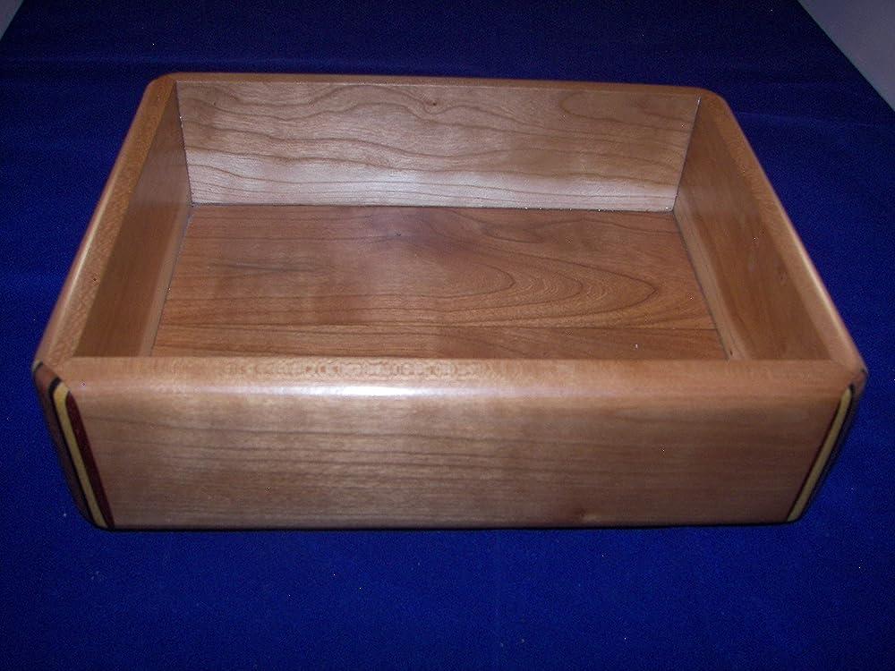 100/_3277 High Quality Decorative Wood Box Beautiful Cherry Valet Tray Desk Tray