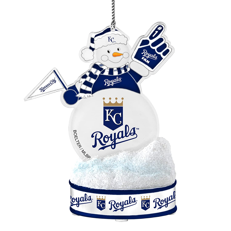 Amazon.com : MLB Kansas City Royals LED Snowman Ornament : Sports ...