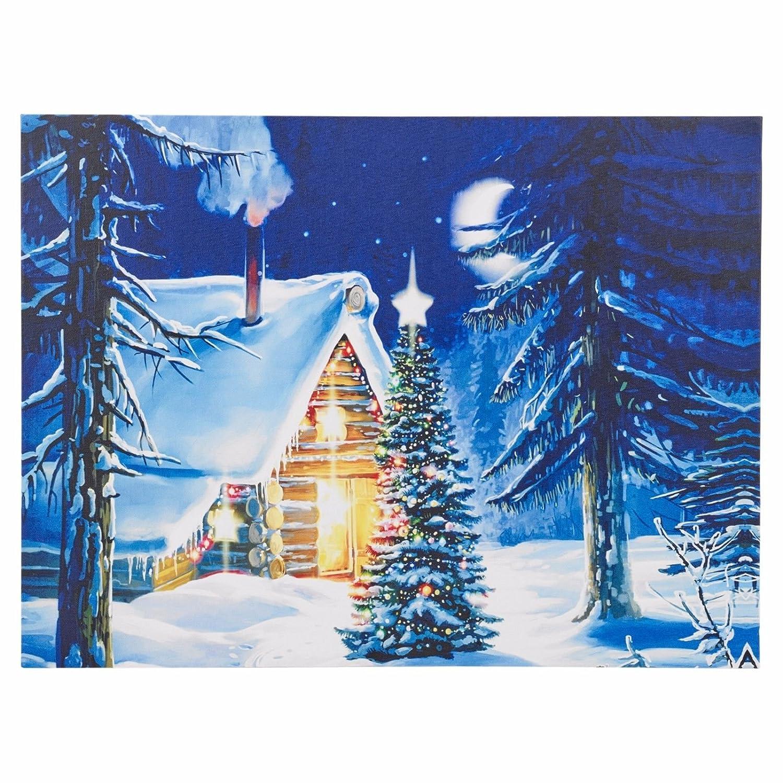 Christmas Light Up LED Leinwand Schnee Wand Deko Urlaub Prints ...