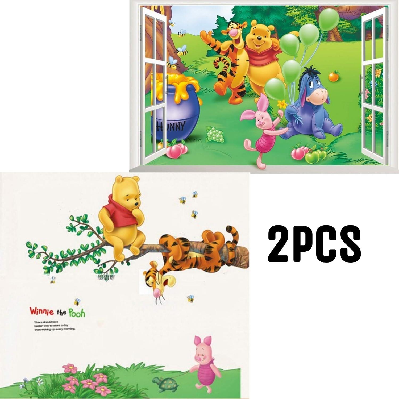 Kibi Winnie The Pooh Friends Pegatinas Winnie the Pooh Pegatinas de Pared de Winnie the Pooh Para Ni/ños Stickers Winnie the Pooh Dormitorio Pegatinas Decorativas Pared Ni/ña//Ni/ño