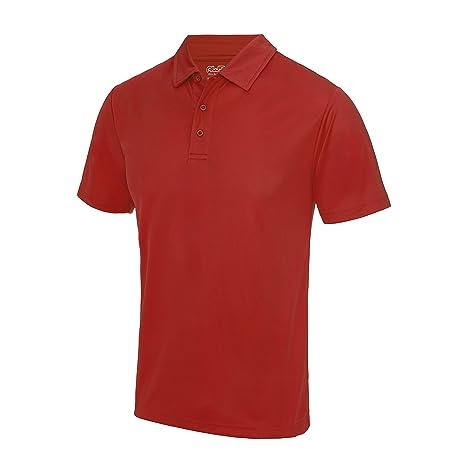 Cool Polo Fire Red AWDIS Streetwear Camisetas Hombre: Amazon.es ...