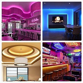 Luces LED RGB 6M 6 opciones DIY para Habitaciones Dormitorios Mafiti Tira LED Multicolor SMD 5050 con Control Remoto de 44 Botones 180 LEDs de 20 Colores disponibles y 8 niveles de brillo