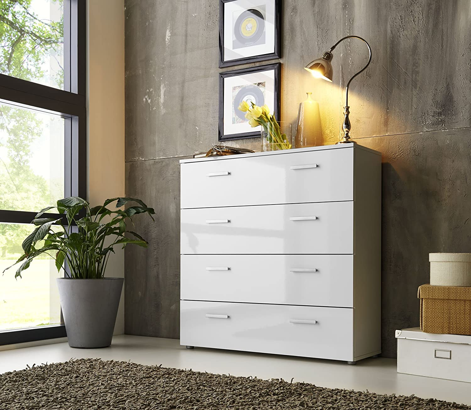 kommode 35 cm tief affordable schubladen kommode sideboard anrichte marbella in hochglanz wei. Black Bedroom Furniture Sets. Home Design Ideas