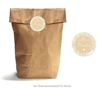 Bolsas de regalo Set: 24 marrón fuerza papie rtüten/Bolsas ...