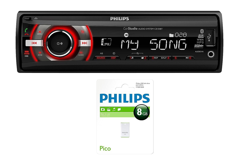 Philips CarStudio CEBT Bluetooth Negro receptor multimedia para coche Radio para coche