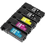 CSSTAR NEC PR-L5700C-24BK(2本) PR-L5700C-18C PR-L5700C-17M PR-L5700C-16Y 5本セット (2BK+CMY) 互換トナーカートリッジ 対応機種:NEC MultiWriter 5700C / 5750C