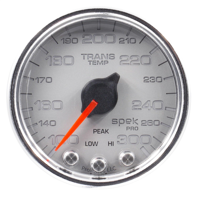Auto Meter P34221 Gauge, Trans Temp, 2 1/16'', 300ºf, Stepper Motor W/Peak & Warn, Slvr/Chrm, Spek-Pro