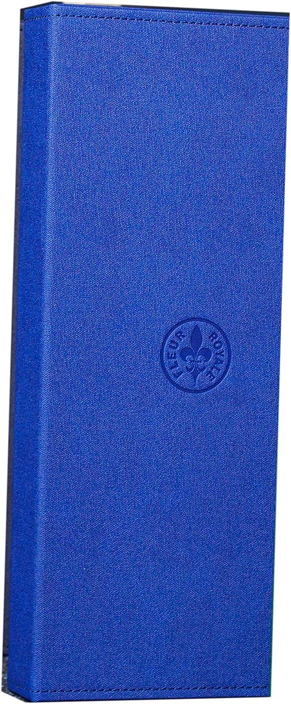 schwarzblau Fleur Royale Mehrbrillenetui Brillenetui Sixpack washed linen f/ür 6 Brillen 366x176x51 mm robust /& edel