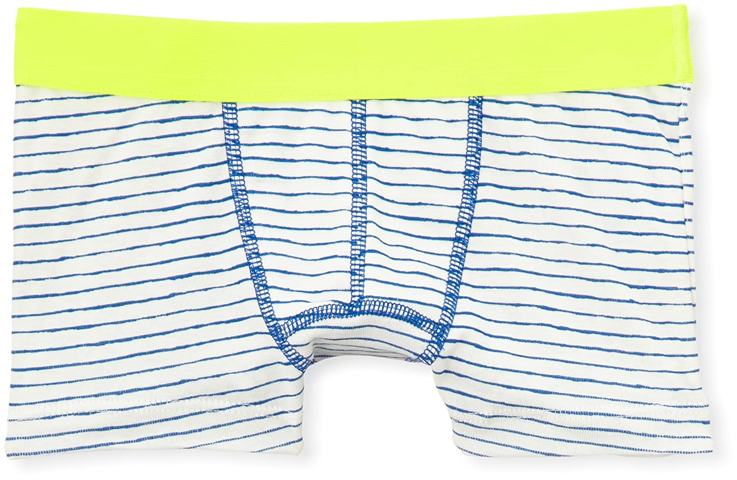 PETIT BATEAU ONE PACK BOYS BOXER BLUE STRIPE LIME STRETCHED WAISTSTYLE 12149 SIZES 2-14
