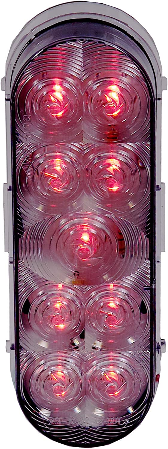 Maxxima M63322R Lightning Series Red  LED 6 Oval Stop Tail Turn Light