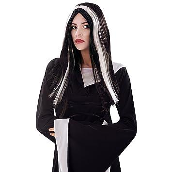 My Other Me Me-200381 Peluca de bruja para mujer Color negro y blanco Talla única Viving Costumes 200381: Amazon.es: Juguetes y juegos