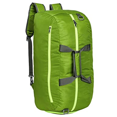 Riavika Travel Duffel Bag Backpack Luggage Gym Sports Bag with Shoe  Compartment (Green) e3c5db18b3d2a