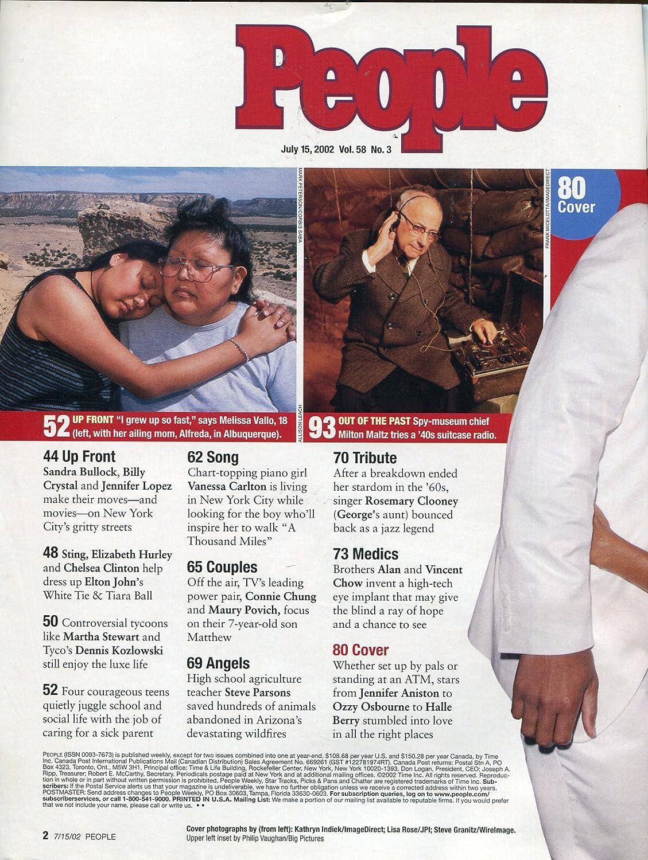 People Magazine July 2002- Brad Pitt- Jennifer Aniston- Will