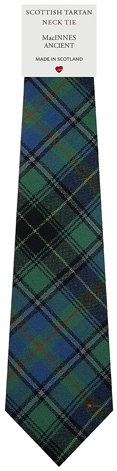 Mens Tie All Wool Made in Scotland MacInnes Ancient Tartan