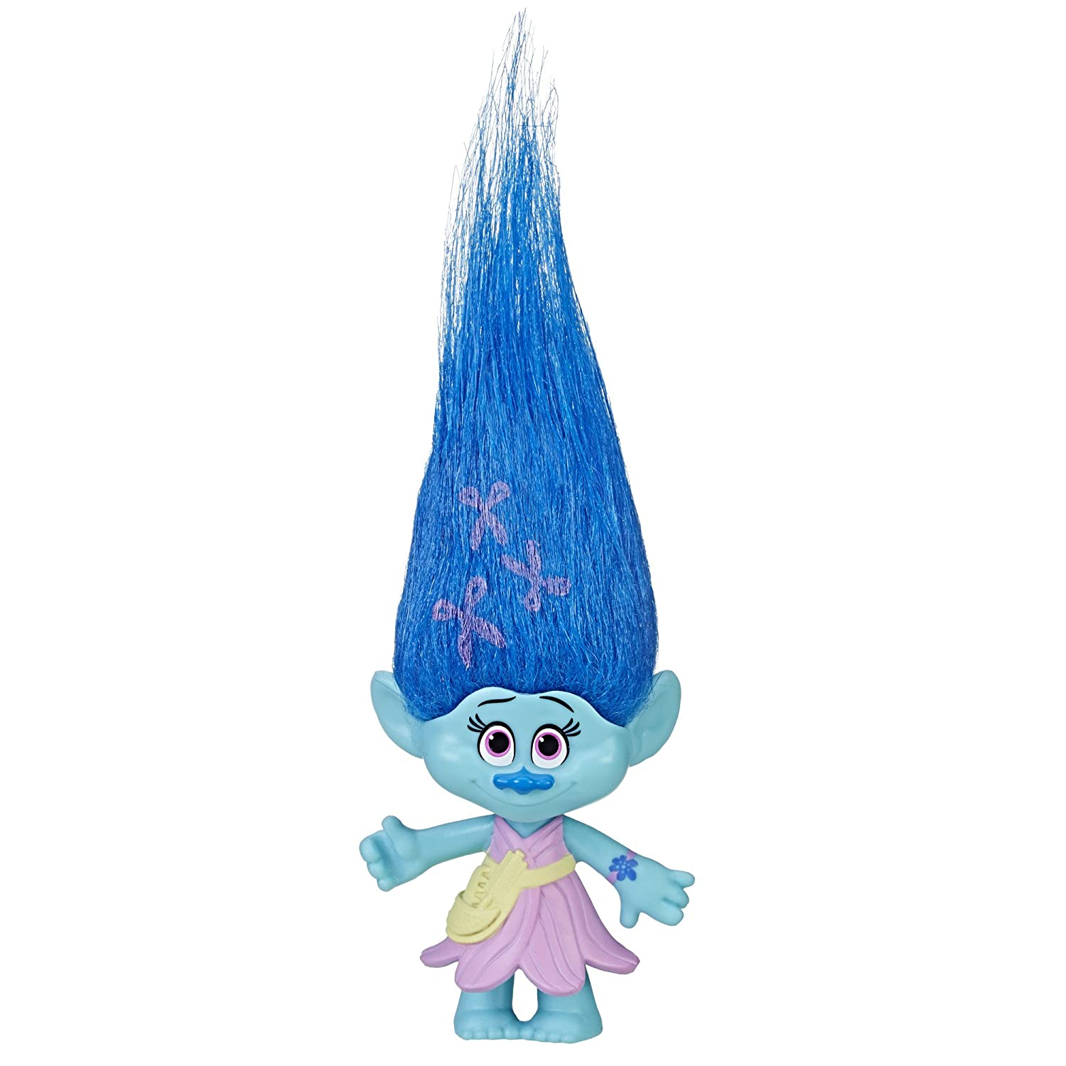 Trolls DreamWorks Maddy Collectible Figure with Printed Hair Hasbro C3426