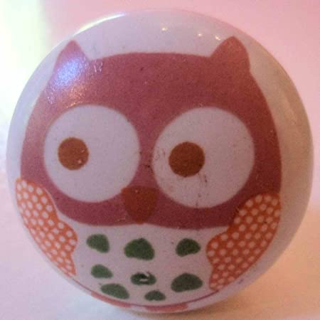 2 x Owl design Ceramic Drawer Door knobs: Amazon.co.uk: Kitchen & Home