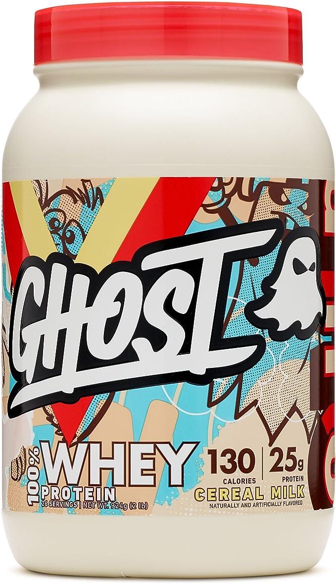 GHOST 100% Proteína de Suero en Polvo, Leche de Cereales 920 g