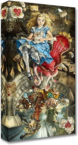 Disney Fine Art We're All Mad Here Treasures on Canvas Alice