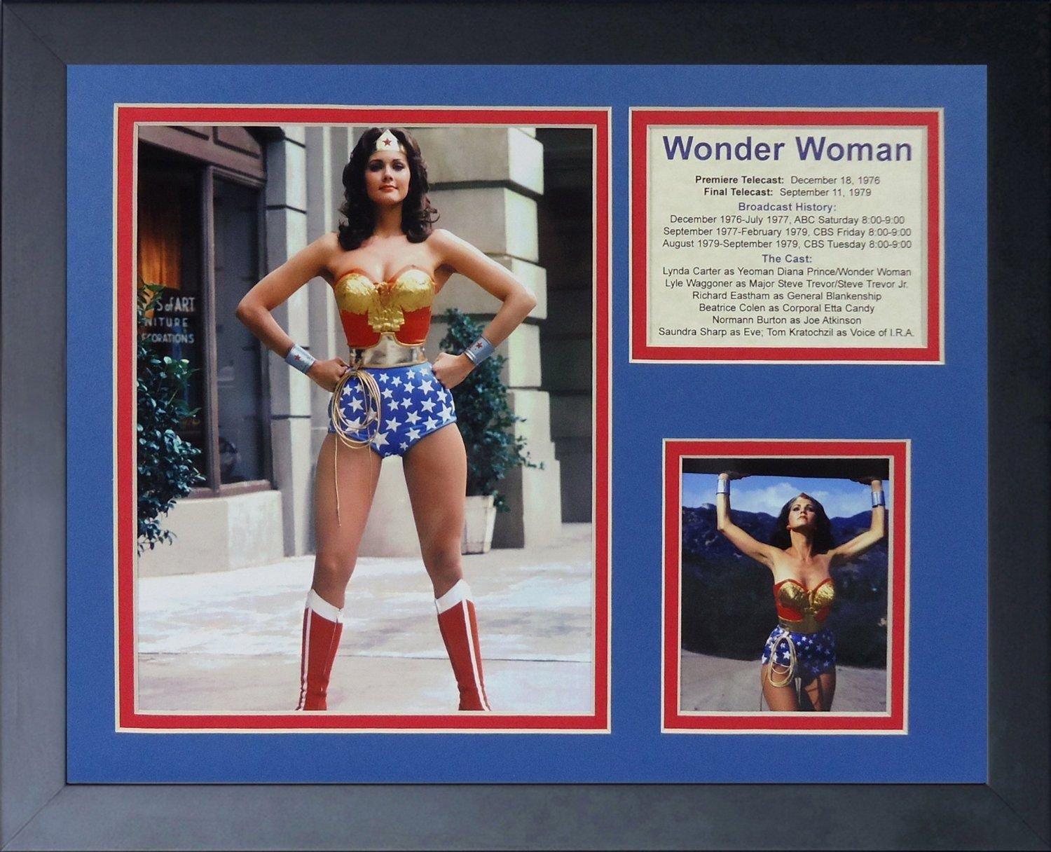 11x14 FRAMED WONDER WOMAN 8X10 PHOTO LYNDA CARTER CAST PREMIERE 1976 YEOMAN at Amazons Sports Collectibles Store