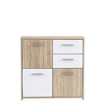 Newface Preiswerte Kommode Holz Sonoma Eiche Dekor Kombiniert Mit