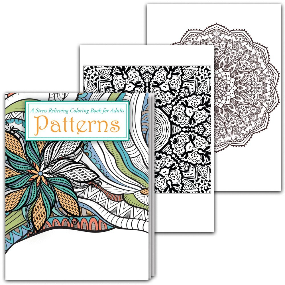 Amazon.com: Stress Relieving Coloring Books for Adults (Patterns and ...