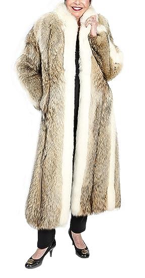 Coyote Fur Coat >> Genuine Fox And Coyote Fur Coat At Amazon Women S Coats Shop