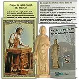 dozenegg saint joseph authentic statue home seller kit with prayer card and. Black Bedroom Furniture Sets. Home Design Ideas