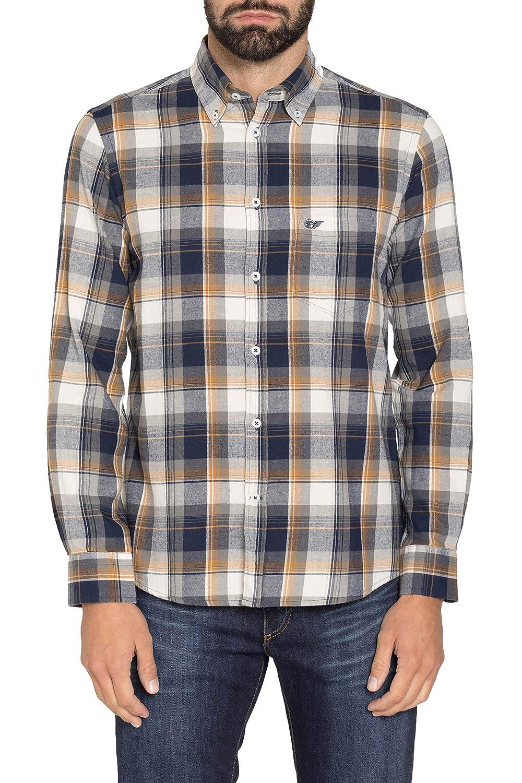 Carrera Jeans Camicia per Uomo, Tessuto Tinto Filo: Amazon