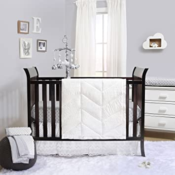Taylor White Eyelet 3 Piece Baby Crib Bedding Set by The Peanut Shell