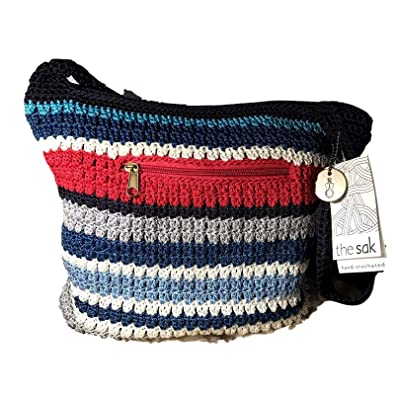 The Sak Hand Crocheted Shoulder Bag Handbags Amazoncom