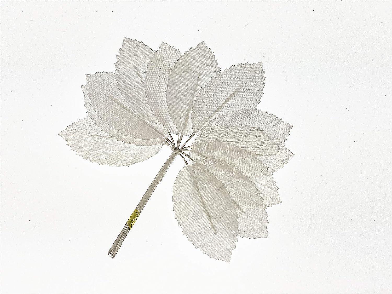 "CalCastle Craft Silk Leaf Green Artificial Leaves DIY Corsage Boutonniere Accessory Flower Party Decoration Bouquet Wedding Decor 144pc (White - 2"" / 144PCS)"