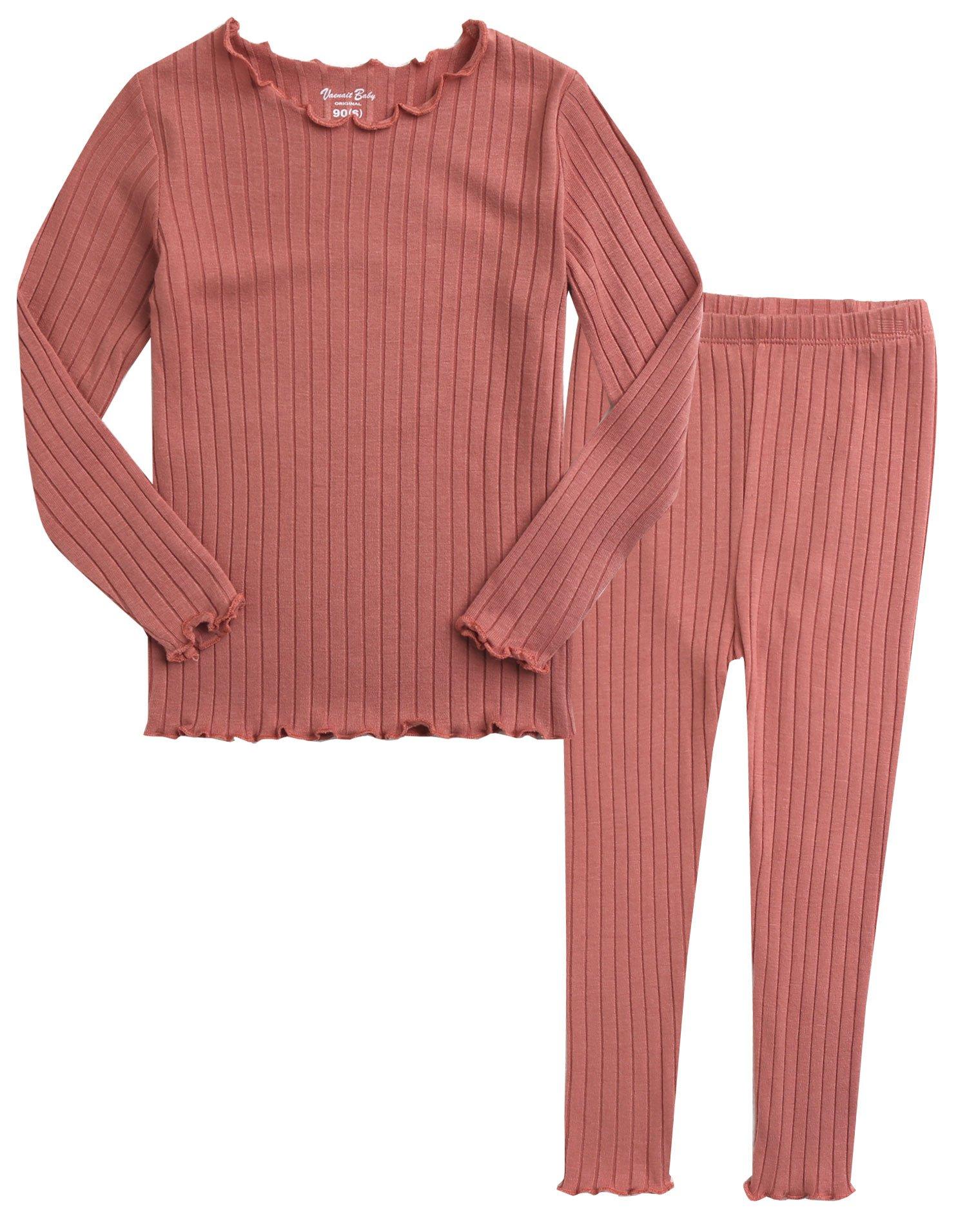 Vaenait baby Kids Girls Long Sleeve Sleepwear Pajamas 2pcs Set Shiring Pink S