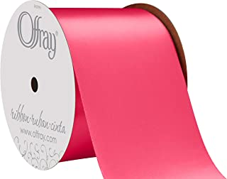 """product image for Offray Berwick 2.5"""" Single Face Satin Ribbon, Shocking Pink, 10 Yds"""