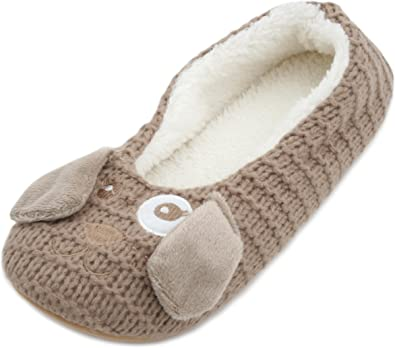 SlumberzzZ Ladies Father Christmas Ballet Slippers