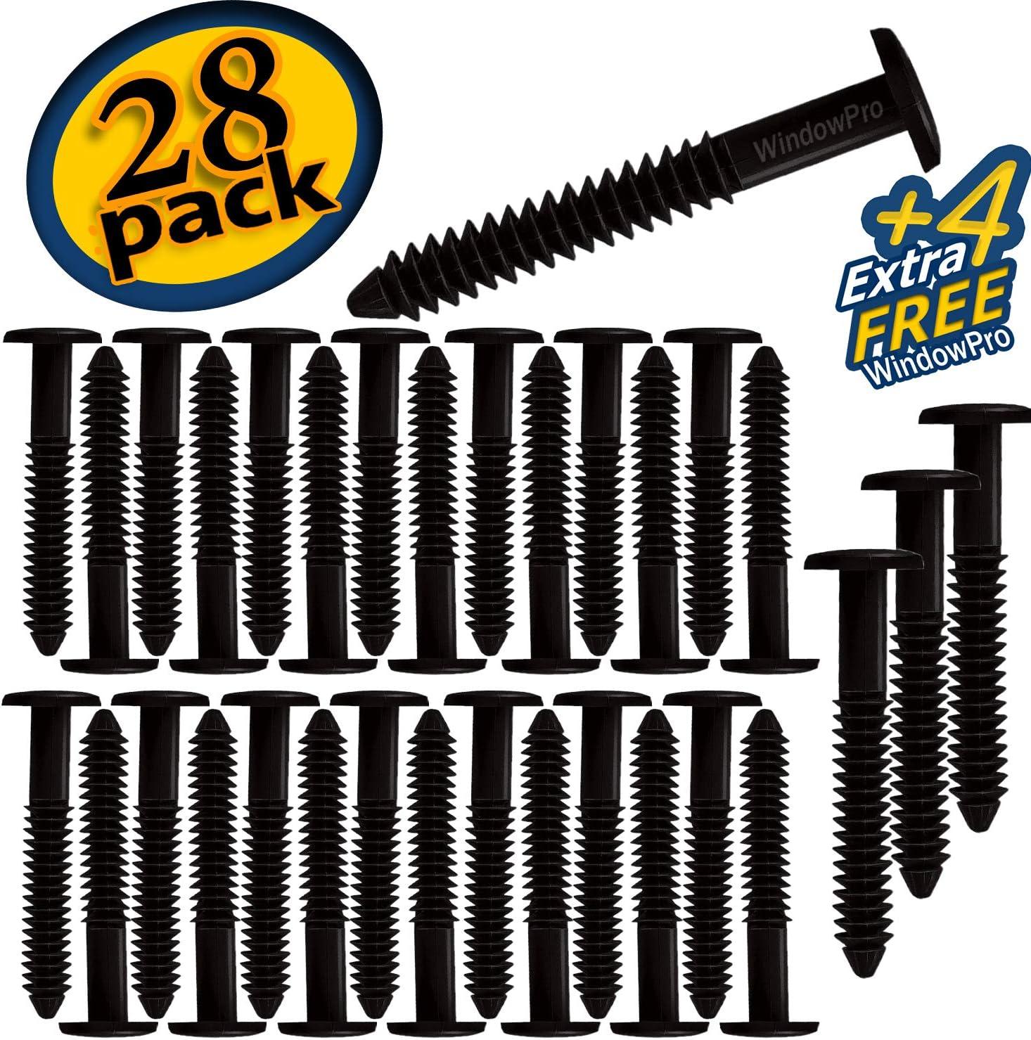 WindowPro Burgundy 32 Pack Fasteners Shutter Pegs Spikes Screws