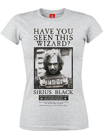 4b605533db2d5 HARRY POTTER Sirius Wanted T-Shirt Manches Courtes Gris Clair chiné   Amazon.fr  Vêtements et accessoires