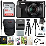 Canon PowerShot G7X Mark II Digital Camera with Corel Software & 64GB Bundle