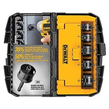 Dewalt D1800ir5 5 Piece Impact Ready Hole Saw Set 3  X  Inch  Inch Hole Saw Kit Amazon Com