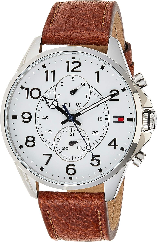 Reloj para hombre Tommy Hilfiger 1791274, mecanismo de cuarzo, diseño con varias esferas, correa de piel.