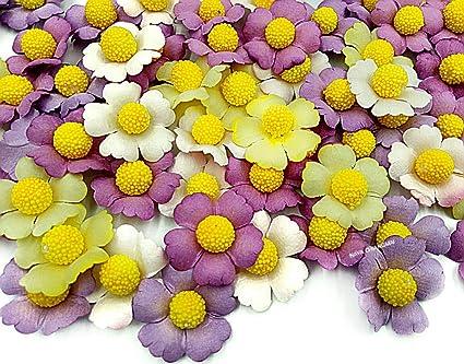 100 Mini Mix Colour Flowers Card Making Scrapbook Craft Embellishments Supplies