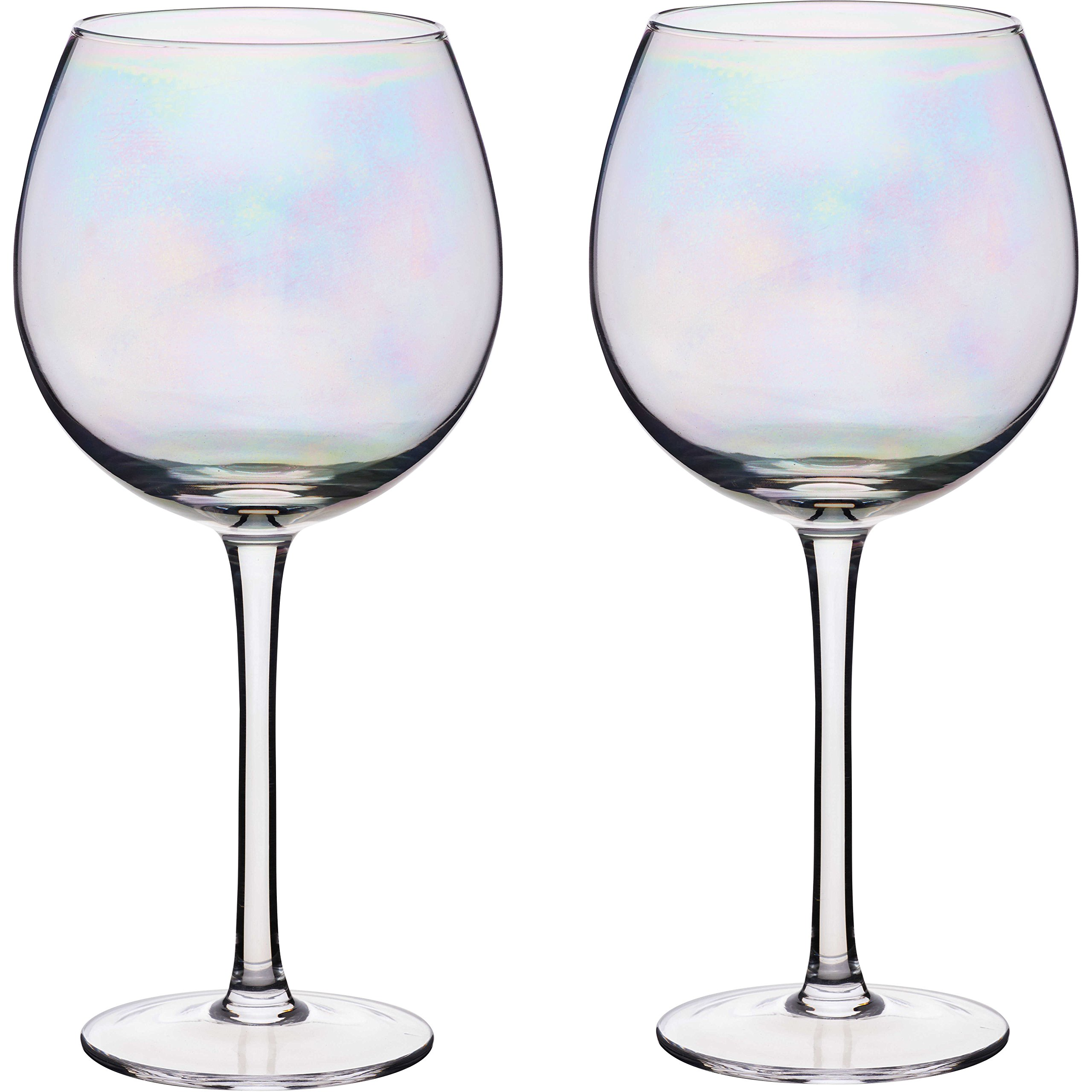 Kitchen Craft BarCraft Iridescent Lustre Rainbow Gin Glasses Glass Set of 2 500ml 16.9fl oz